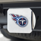 Tennessee Titans Hitch Cover Color Emblem on Chrome