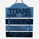 Tennessee Titans Sign Wood Mancave