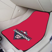 Washington Nationals  2019 World Series Champions 2-pc Carpet Car Mat Set