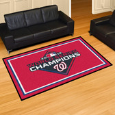 Washington Nationals  2019 World Series Champions 5x8 Rug