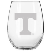 Tennessee Volunteers Etched 15 oz Stemless Wine Glass Tumbler