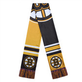 Boston Bruins Scarf Colorblock Big Logo Design