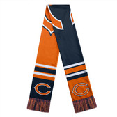 Chicago Bears Scarf Colorblock Big Logo Design