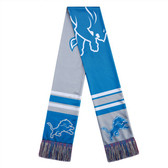 Detroit Lions Scarf Colorblock Big Logo Design