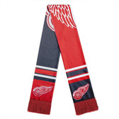 Detroit Red Wings Scarf Colorblock Big Logo Design