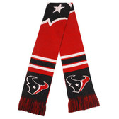 Houston Texans Scarf Colorblock Big Logo Design