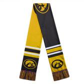 Iowa Hawkeyes Scarf Colorblock Big Logo Design