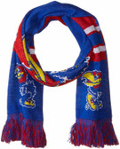Kansas Jayhawks Scarf Colorblock Big Logo Design