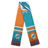 Miami Dolphins Scarf Colorblock Big Logo Design