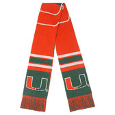 Miami Hurricanes Scarf Colorblock Big Logo Design