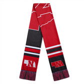 Nebraska Cornhuskers Scarf Colorblock Big Logo Design