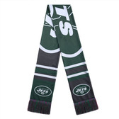 New York Jets Scarf Colorblock Big Logo Design