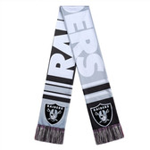 Oakland Raiders Scarf Colorblock Big Logo Design