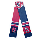 St. Louis Cardinals Scarf Colorblock Big Logo Design