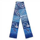 Tennessee Titans Scarf Printed Bar Design