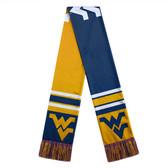 West Virginia Mountaineers Scarf Colorblock Big Logo Design
