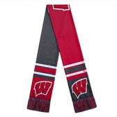 Wisconsin Badgers Scarf Colorblock Big Logo Design