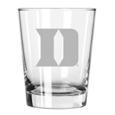 Duke Blue Devils Etched 15 oz Double Old Fashioned Glass Set of 2