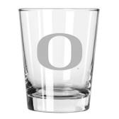 Oregon Ducks Etched 15 oz Double Old Fashioned Glass Set of 2