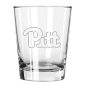 Pittsburgh Etched 15 oz Double Old Fashioned Glass Set of 2