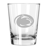 Penn State Nittany Lions Etched 15 oz Double Old Fashioned Glass Set of 2