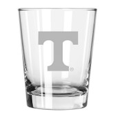 Tennessee Volunteers Etched 15 oz Double Old Fashioned Glass Set of 2