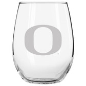 Oregon Ducks Etched 15 oz Stemless Wine Glass Set of 2 Tumbler