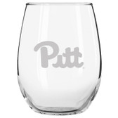 Pittsburgh Etched 15 oz Stemless Wine Glass Set of 2 Tumbler