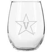 Vanderbilt Commodores Etched 15 oz Stemless Wine Glass Set of 2 Tumbler