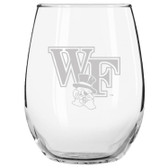 Wake Forest Demon Deacons Etched 15 oz Stemless Wine Glass Set of 2 Tumbler