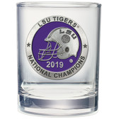 LSU Tigers 2019 National Champions Double Old Fashioned Glass
