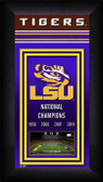 LSU Tigers 2018 National Champions Framed Championship Banner Miniframe