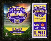 LSU Tigers 2019 National Champions Logo Plaque 15 x 12