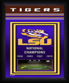 LSU Tigers 2019 National Champions Framed Championship Banner