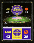 LSU Tigers 2019 National Champions Field Plaque 15 x 12