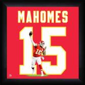 Kansas City Cheifs Patrick Mahomes 20x20 Framed Uniframe