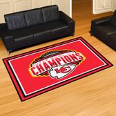 Kansas City Chiefs Super Bowl LIV 54 5x8 Rug
