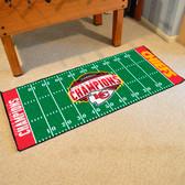 Kansas City Chiefs Super Bowl LIV 54 Football Field Runner