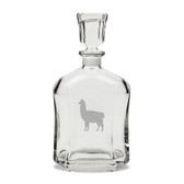 Llama Deep Etched Stemless Red Wine Glass Set of 4