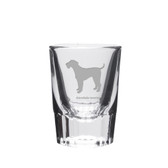 Airedale Terrier Deep Etched Shot Glass