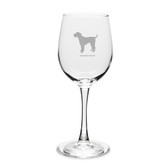Airedale Terrier 12 oz Classic White Wine Glass
