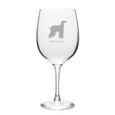 Afghan Greyhound Deep Etched 19 oz Classic Red Wine Glass