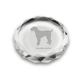 Airedale Terrier Deep Etched Paperweight