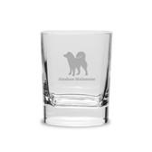 Alaskan Malamute Luigi Bormioli 11.75 oz Square Round Double Old Fashion Glass
