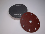 "BAOSTC 6""9holes hook and loop sanding disc,abrasive disc"