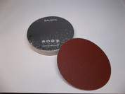 "BAOSTC 6"" no holes PSA sanding disc,red aluminum oxide"