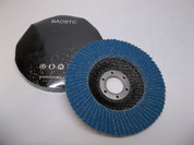 "BAOSTC 4 1/2"" Zirconia oxide flap disc grinding wheels for angle grinder"