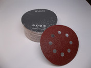 "BAOSTC 5"" 8holes assorted60-80-120,hook and loop sanding disc,50PACK"