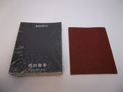 BAOSTC 1/4 sandpaper sheet,115*140mm Assorted 60-80-120,red aluminum oxide 50PACK