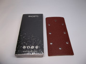 BAOSTC velcro sandpaper,93*187mm Assorted 60-80-120-180-240,red aluminum oxide 50PACK